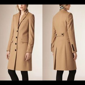 Burberry Wool Cashmere Tailored Camel Size 8